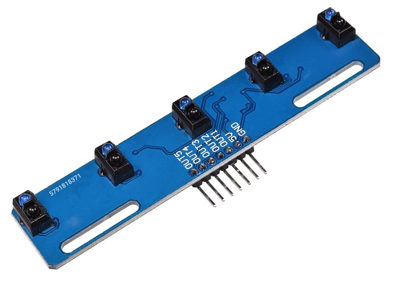 Czujnik odległości TCRT5000 pięcio kanałaowy  wykrywacz lini