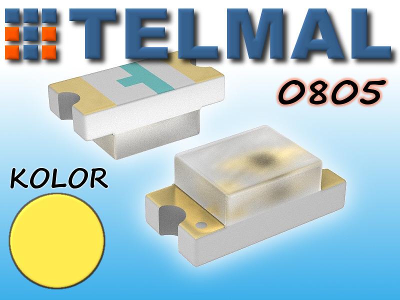 Dioda LED SMD 0805 komplet 10szt