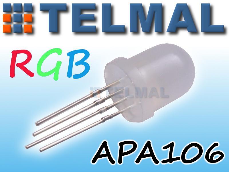 Cyfrowa dioda RGB APA106 5mm NEOPIXEL ARDUINO