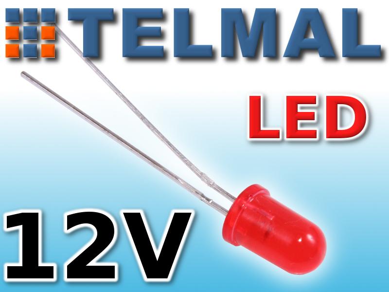 Dioda LED 5mm na 12V KINGBRIGHT